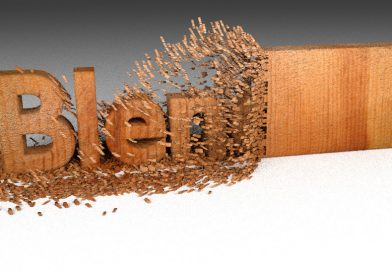 Blender Wood Chipping Text