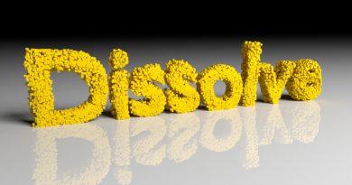 Blender Dissolve Text
