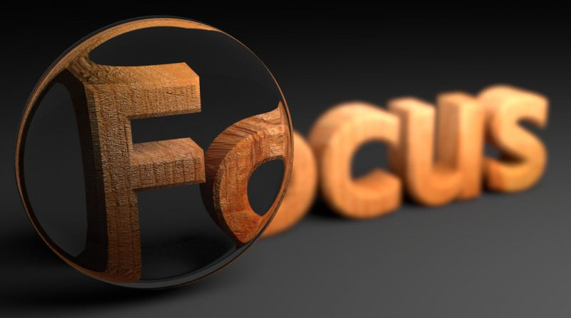 Blender Focused Text Animation