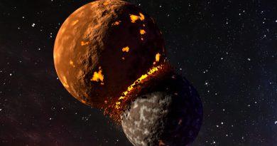 Blender Planets Colliding