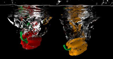 Blender Bell Peppers Splashing