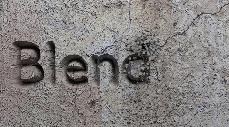 Blender Stone Carving Text