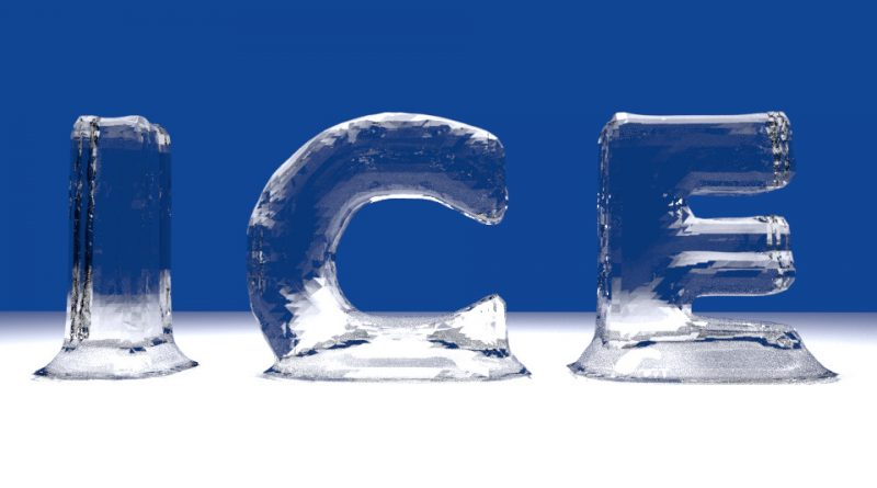 Blender Ice Text