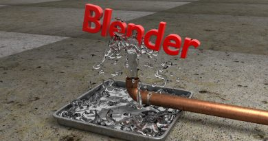 Blender Water Balancing Text Animation