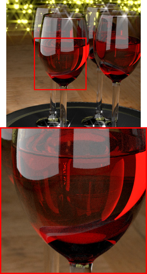 Wineglass Denoising Disabled
