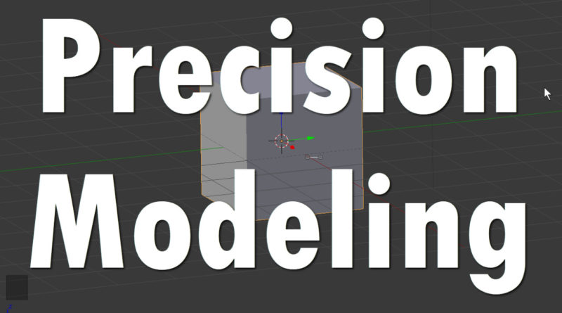 Blender Precision Modeling